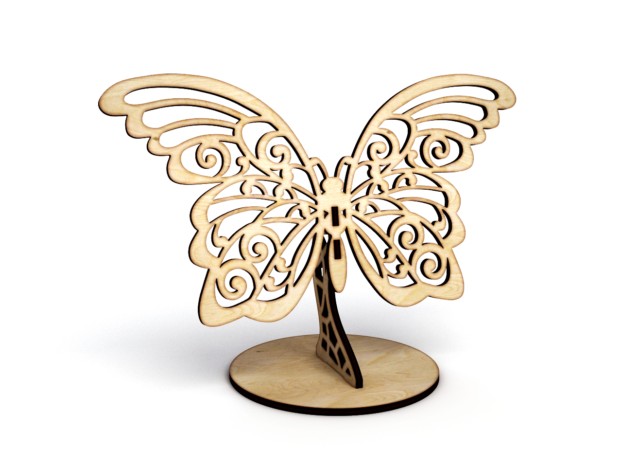 Бабочка на подставке