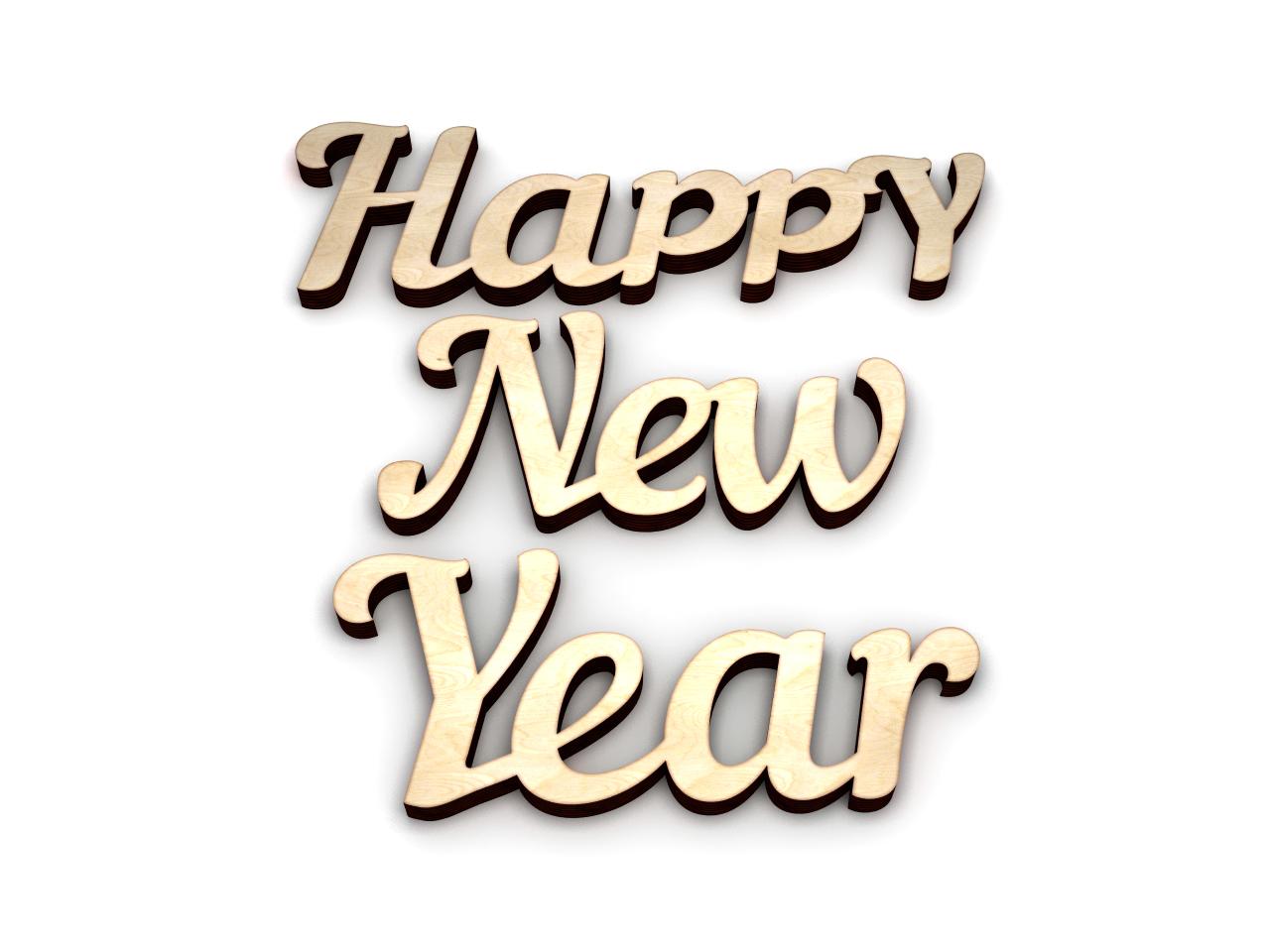 Интерьерное слово новый год