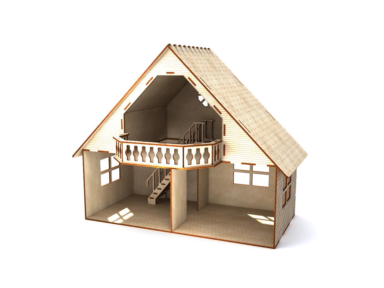 Кукольный домик с балконом.